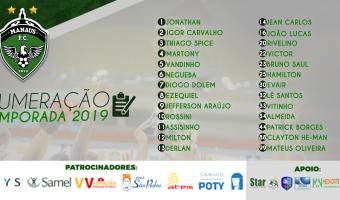 Manaus FC define numeração dos jogadores para a temporada 2019