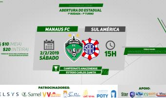 Manaus FC x Sul América: ingressos disponíveis para venda pela internet