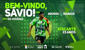 Manaus FC anuncia contratação do atacante Sávio, ex-Goiânia