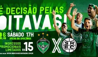 Manaus FC x São Raimundo: ingresso promocional limitado a R$ 15