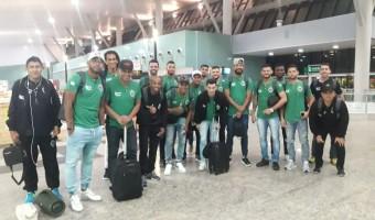Delegação esmeraldina embarca rumo a Santa Catarina