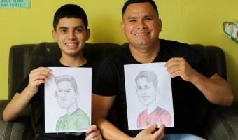 Desenhista transforma paixão do filho pelo Manaus FC em arte