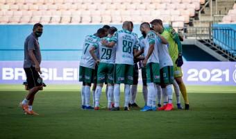 João e Diego Rosa incentivam a equipe antes do embate contra o Paysandu: