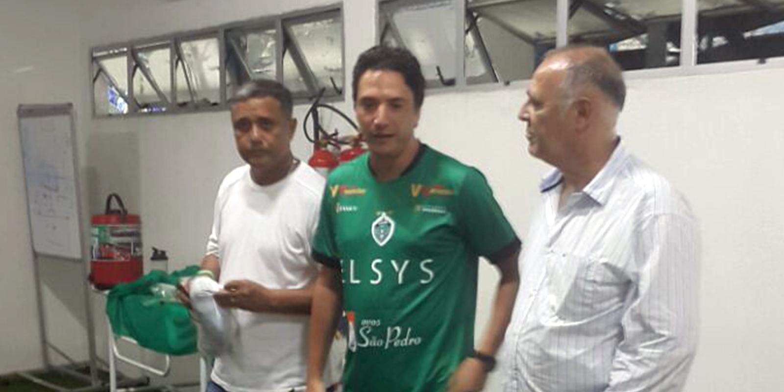 Manaus FC recebe a visita do diretor comercial da Elsys