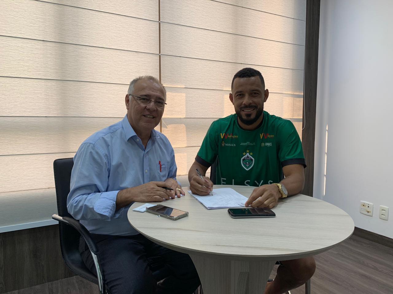 Manaus FC renova com zagueiro Thiago Spice por mais uma temporada