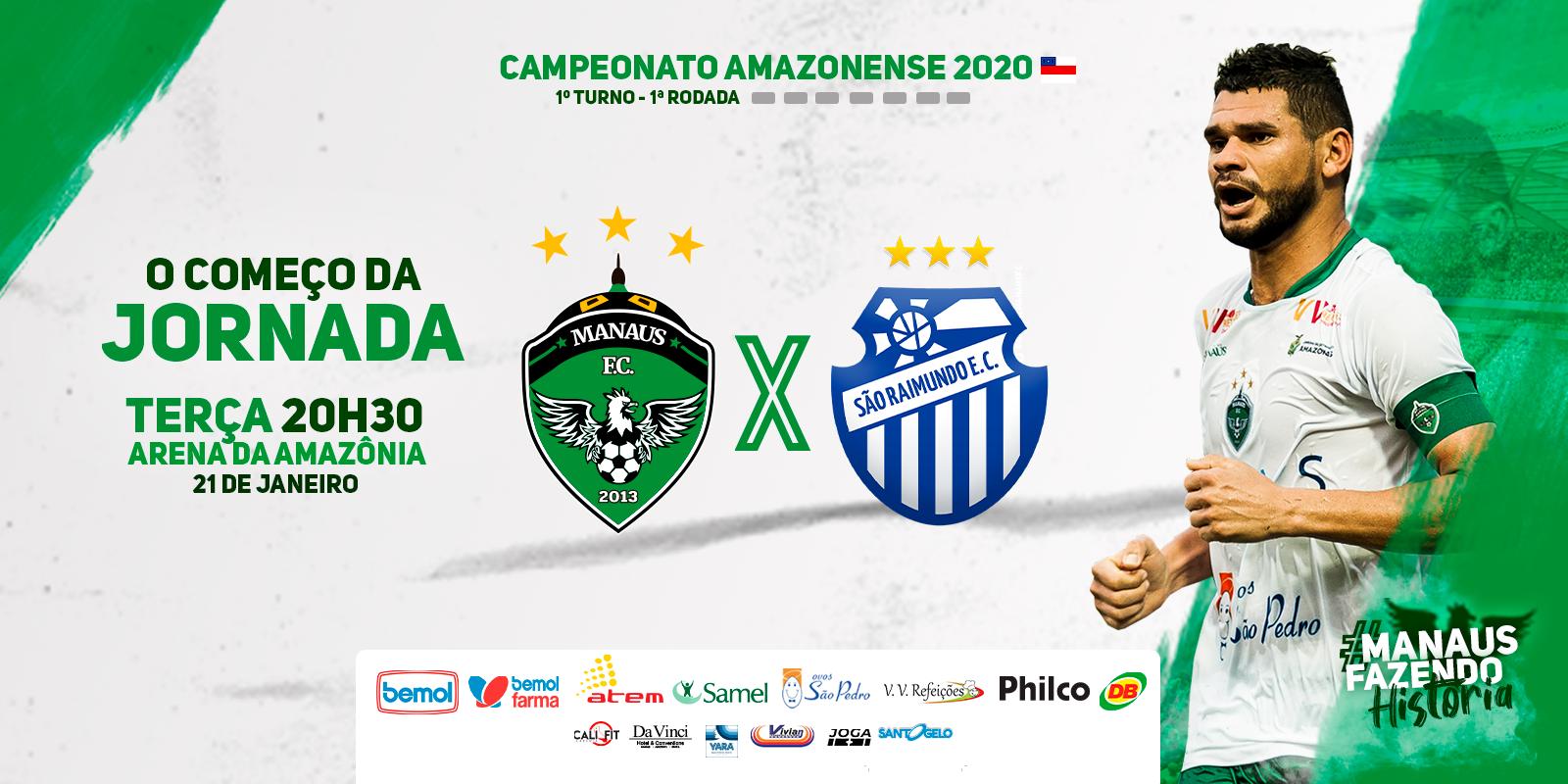 Tabela sofre alteração, e Manaus estreia no Amazonense dia 21