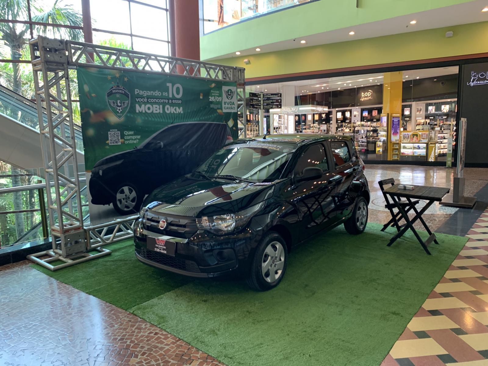 Carro zero km que será rifado pelo MANAUSFC ficará em exposição no Manauara Shopping
