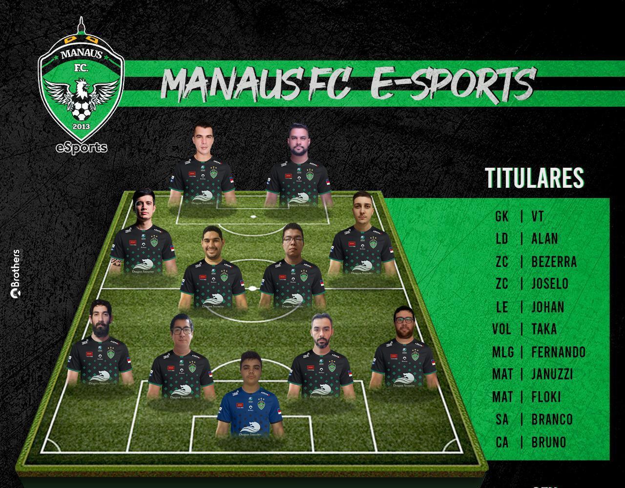 Equipe de Futebol Digital do MANAUSFC enfrenta nesta sexta-feira o Real Brasília