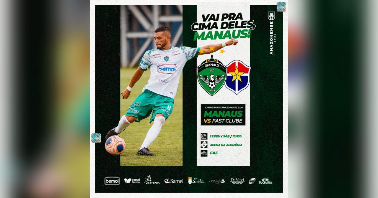 FAF e Manaus FC se unem e lançam plataforma exclusiva para transmissão de jogos