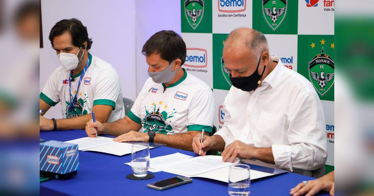 Manaus FC renova com a Bemol por mais três anos